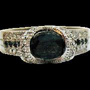 Rare Vintage Signed AVON of Belleville Simulated Sapphire Diamond Ring~Marcel Boucher