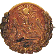 Turn of the Century Fraternal Order of Pythian Sisters 10K Gold Brooch~Free US Shipping