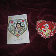 Two Vintage 1920's Early Germany Die Cut Valentines.