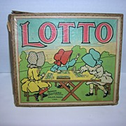 Vintage Lotto Game with Sunbonnet Sues on Cover