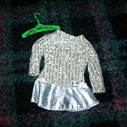 "SOLD Vintage Mattel 1969 Barbie ""Silver Sparkle"" #1885 Outfit - Red Tag Sale Item"