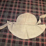 Antique Ladies Cotton Print Sun Bonnet