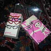 HTF Vintage Boxed Set of 4 Vogue Ginny Glasses