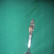 """Vintage Silver Plated Souvenir Spoon of Dionne Quintuplet """"Emilie"""""""