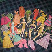 "Vintage Movie Star ""Betty Grabel"" Paper Dolls & Clothes"