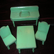 Vintage 1930s Strombecker Wooden 4-Piece Kitchen Set!