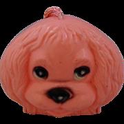 Vintage Pink Plastic Dog Child's Purse
