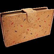 SALE Vintage Gold Metallic Brocade  Clutch  Purse  Graceline Original