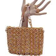 Vintage Gold and Silver Ring Purse by Magid
