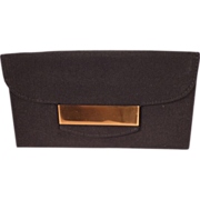 SALE Vintage Black Faille Clutch Vanity Purse With Accessories for Saks Fifth Ave
