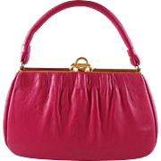 Vintage Fuchsia Leather Purse by Etna