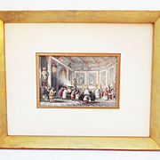 SALE PENDING T.Allom 19th C. Tinted Engraving Proprietary Offerings for Departed Relatives fro