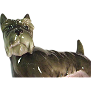 Antique Volkstedt Dog Figurine - Scottish Terrier