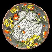 Antique Wedgwood Botanical Plate Plum Blossom - Unusual Colorway