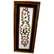 Spectacular, Rare, Large Handpainted Copeland Garrett Plaque 1833-1847 with Birds and Flowers,