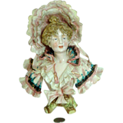 Extraordinary Royal Rudolstadt Lady Bust - The BEST! German Porcelain