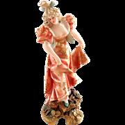 Miniature Teplitz Figurine of Pretty Woman
