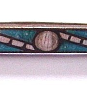 Art Deco Bubble Enamel Bar Pin