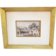 SALE PENDING T.Allom 19th C. Tinted Steel Engraving from China Illustrated