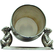 Antique Rogers Triple Silverplate Cherubs Napkin Ring