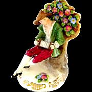 Porcelain Crown Staffordshire England Figure Musician ca. 1920 or prior
