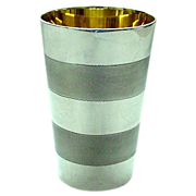 REDUCED Heavy Sterling Silver Tumbler or Modern Style Kiddush Cup