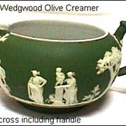 SALE Antique Wedgwood Olive Green Creamer (larger size) Tricolor