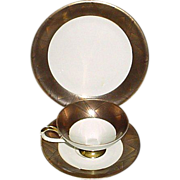 Gorgeous 3-PC Bavarian Gold and Black Cup, Saucer, Dessert Plate Trio