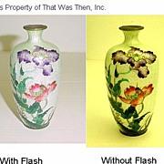 REDUCED Antique Meiji Period Japanese Ginbari Cloisonne Vase - Hallmarked
