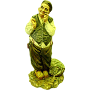 Vintage A. Borsato Italy Porcelain Figurine of Fisherman