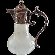SALE French Christofle Gallia Silver Antique Figural Claret Jug