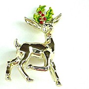 Christmas Reindeer Pin