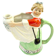 Schafer & Vater German Figural Milkmaid Pitcher or Creamer