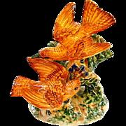 Rare  Color Beswick Double Bird Figurine -