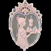 Very Rare Antique Jewelled Jasperware Plaque (#2)