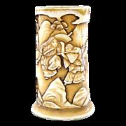 Antique Faux Ivory Tusk Porcelain Vase by Royal Rudolstadt