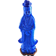 Antique Chinese Peking Glass Figure of Qwan Yin Goddess of Mercy