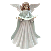 SALE Lladro Angel Tree Topper with Scroll of Music