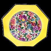 Vivid Crown Ducal Purple Chintz Octagonal Plate