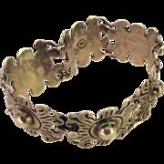 SALE Vintage Classic Taxco Mexico Sterling Silver Link Bracelet