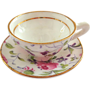 SOLD Rosina England Miniature Chintz Roses Cup and Saucer - Red Tag Sale Item