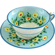 Miniature Crown Staffordshire Daisy Cup and Saucer