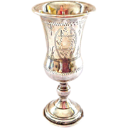 SOLD 1930 Judaica Sterling Silver Kiddush Cup