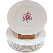 SOLD 8 Spode Bridal Rose Plates
