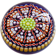 "SOLD Large 3"" Perthshire Millefiori Paperweight"