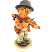Hummel Little Fiddler #4 Boy With Violin and Umbrella 1950s