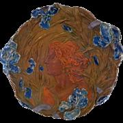 """Very LARGE 16"""" Antique Ernst Wahliss Art Nouveau Charger Plaque"""