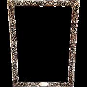 Sterling Silver Frame with Floral Details