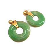 SALE 14K and Jade Earrings