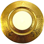 "8 Eight Gold Encrusted 10 3/4"" Charger Plates"